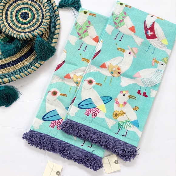 Anthropologie Other - Anthropologie Luisa Cotton Dish Towels Set of Two